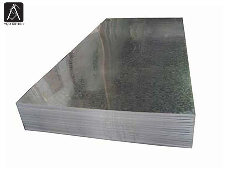 Chapa aço galvanizado preço